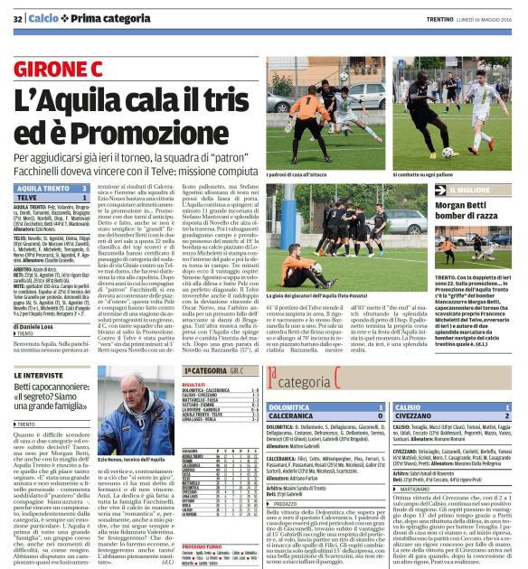Trentino_lunedì 16 maggio 2016