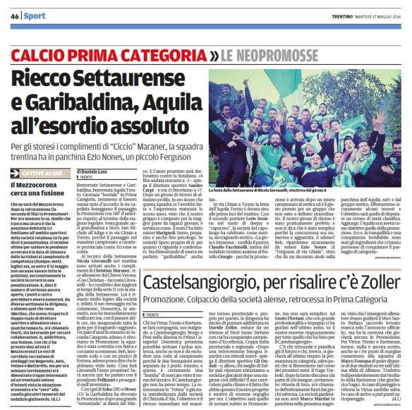 Trentino_martedì 17 maggio 2016